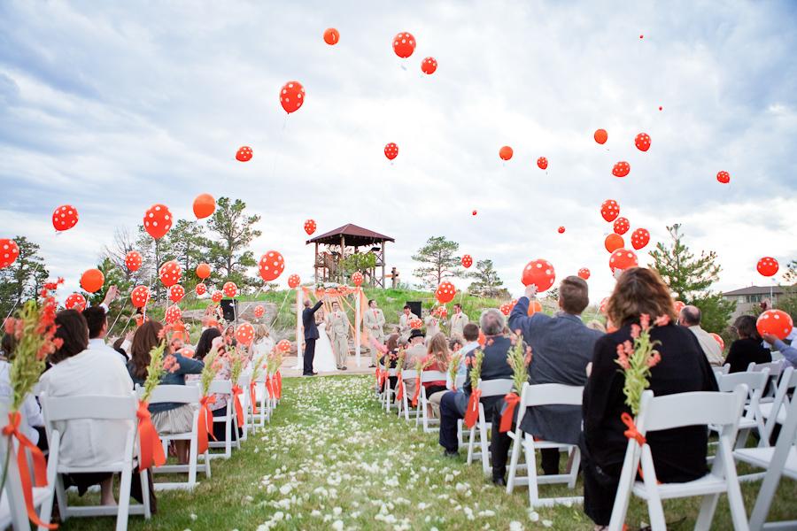 Luftbalon az esküvőn